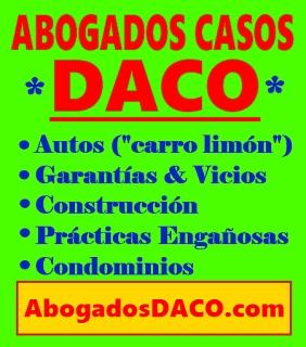 ¡Abogados casos DACO!