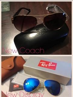Gafas Coach Nuevas y Rayban se usaron one time