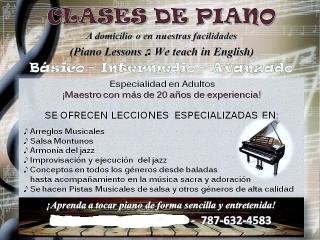 Clases de piano para adultos a domicilio