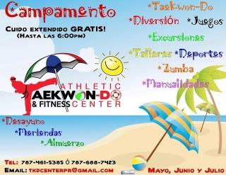 Athletic Taekwondo CAMPAMENTO VERANO! Mayo, Junio y Julio!
