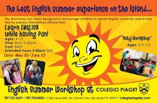 Colegio Piaget - English Summer Workshop