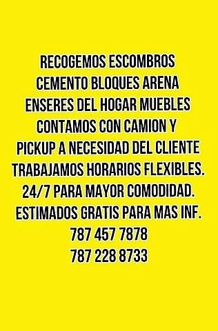 Recogido escombros 787 457 7878 Puerto Rico