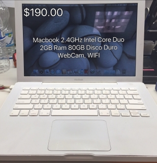 Apple Macbook 2GB Ram 80GB HD Camara