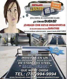 REMPLAZO DE CALENTADOR SOLAR DE AGUA EN SS