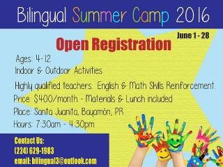 Campamento de Verano Bilingue 2016