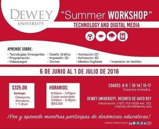 Summer Workshop Technology and Digital Media