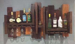 Wall Liquor Rack