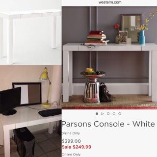 Escritorio Moderno - Parsons Console