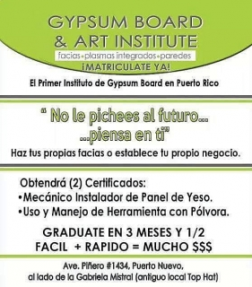 Curso gypsum board