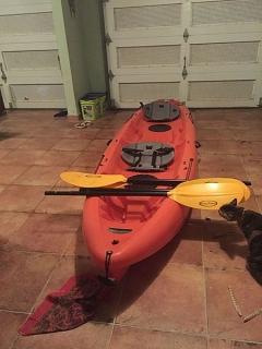 kayak nexus 144t con remos y espaldares