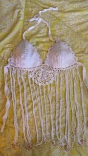 Top tejido en crochet