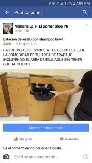 ESTACION DE ESTILO CON SHAMPOO BOWL