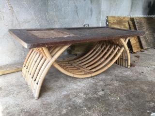 Coffee Table en Madera y Bambú