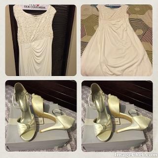 Traje de novia y zapatos