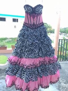 Vestido de quinceañera Animal Print