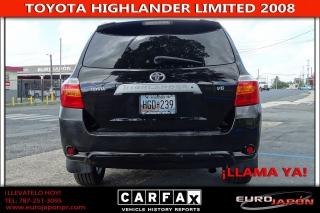 Toyota Highlander Limited Negro 2008