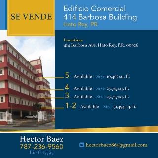 PARA LA VENTA EDIFICIO REGISTRO DEMOGRAFICO BARBOSA 414. TASACION 16 MILLONES.PRECIO ESPECIAL 2.8 MILLONES.
