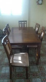 Juego de comedor de 6 sillas