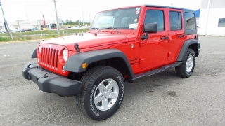 Jeep Wrangler Unlimited Sport Red 2016