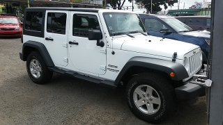 Jeep Wrangler Unlimited White 2015