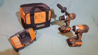 Rigid 18V Compact Drill/Driver and Impact Driver Combo