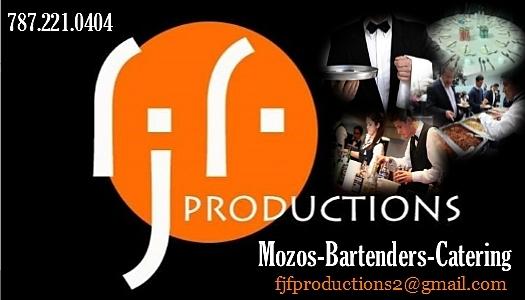 MOZOS / BARTENDERS / CATERING...COORDINACIÓN DE EVENTOS
