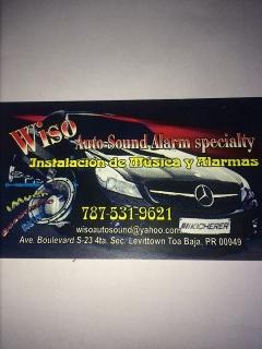 Instalación de alarmas, equipos de música *Ave Boulevard Toa Baja*