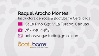 Clases de Yoga Basica, Yoga Restaurativa, Pilates, Bootybarre, willPower, Belly Dance