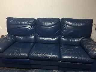 Sofa de Cuero Reclinable