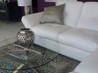 Sofa Blanco de Piel Italiana