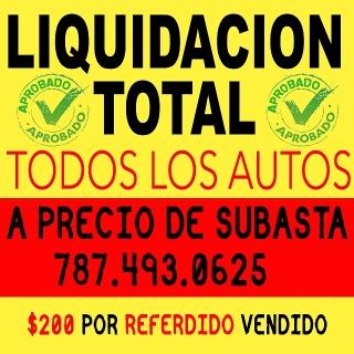 APROVECHA LIQUIDACION TOTAL A PRECIOS DE SUBASTA. APROVECHA!!!