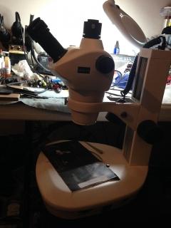 Microscopio para microsoldaduras