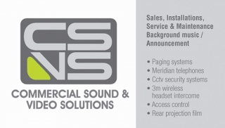 COMMERCIAL SOUND AND VIDEO SOLUTIONS