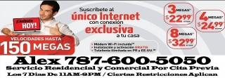 Internet Ilimitado Claro PR Res. Con o Sin Contrato Instalado