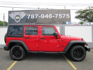 Jeep Wrangler Unlimited Sport Red 2015