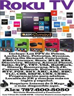 Roku TV Desde $15.00 Mensual
