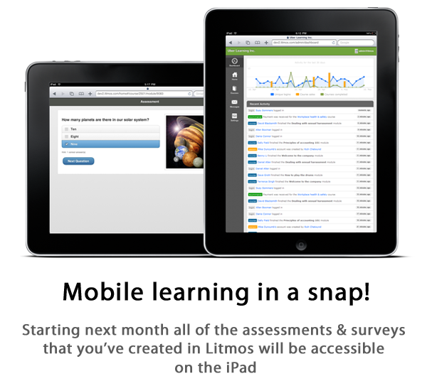 Mobile learning on the iPad