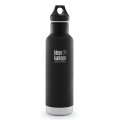 SHALE_BLACK - Klean Kanteen - - 20oz Classic Vacuum Insulated w/ Loop Ca
