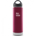 Roasted Pepper - Klean Kanteen - 20 oz Wide Mouth Loop Cap Insulated Bottle - Brushed Stainless