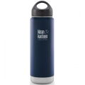 Deep Sea - Klean Kanteen - 20 oz Wide Mouth Loop Cap Insulated Bottle - Brushed Stainless