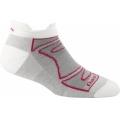 White/Fuchsia - Darn Tough - Women's Merino Wool No-Show Ultra-Light Cushion