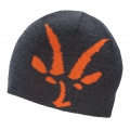 Pewter Heather - Ibex - Knit Logo Beanie