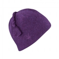 Boysenberry Heather - Ibex - Top Knot Hat