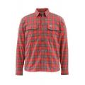 Fury Orange Plaid - Simms - ColdWeather LS Shirt