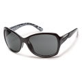Black Backpaint - Suncloud - Cassandra - Gray Polarized Polycarbonate