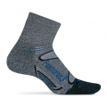 Gray/Pacific Blue - Feetures! - Merino+ Light Cushion Quarter