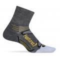 Gray/Yellow - Feetures! - Merino+  Ultra Light Quarter