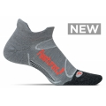 Gray/Lava - Feetures! - Merino+ Cushion No Show Tab
