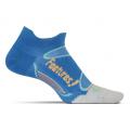 Brilliant Blue/Sherbert - Feetures! - Merino+ Ultra Light No Show Tab