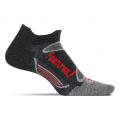 Charcoal/Red - Feetures! - Merino+ Ultra Light No Show Tab